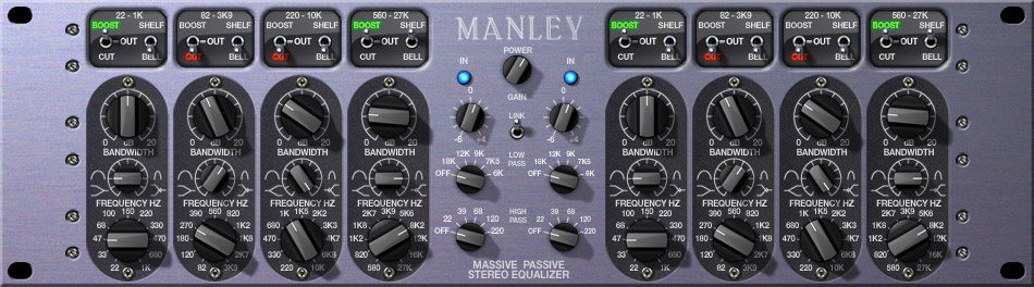 The Manley 'Massive Passive' tube EQ - another one of my favourite (not so) secret weapons!